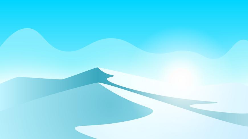 Paysage de glace. Montagne et glace.