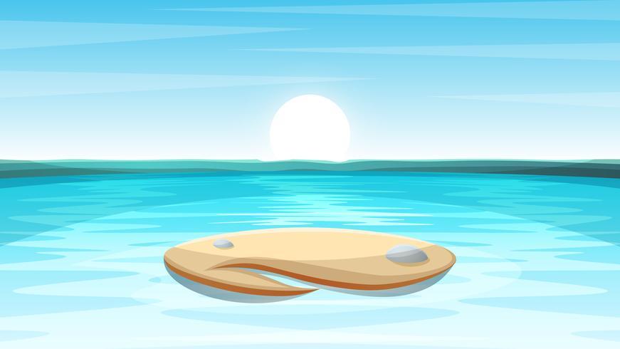 Illustrazione di paesaggio isola dei cartoni animati. vettore