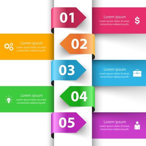Style d'origami d'affaires infographie illustration vectorielle. vecteur
