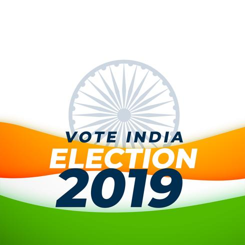 stem indiaan verkiezing 2019 ontwerp