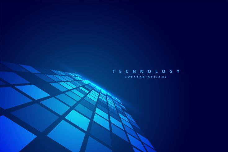 fundo de mosaico de perspectiva digital de tecnologia