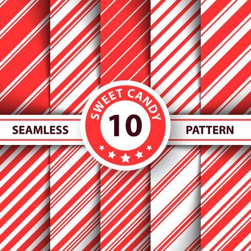 Gestreepte zoete lijn Merry Christmas-patroon.