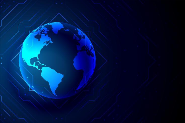 digitaler Hintergrund der globalen Technologie Erde Banner
