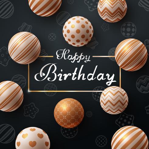 Grattis på födelsedagen. Vacker mörk mall.