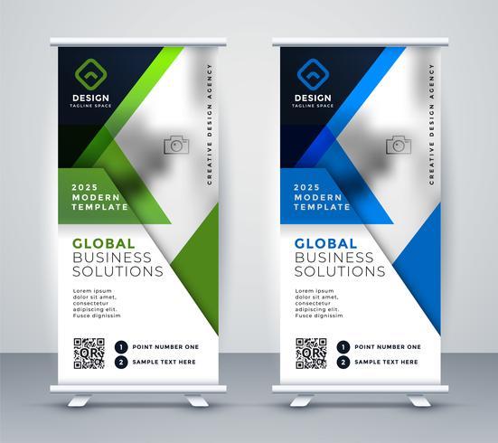 business rollup vertikal standee geometrisk banner