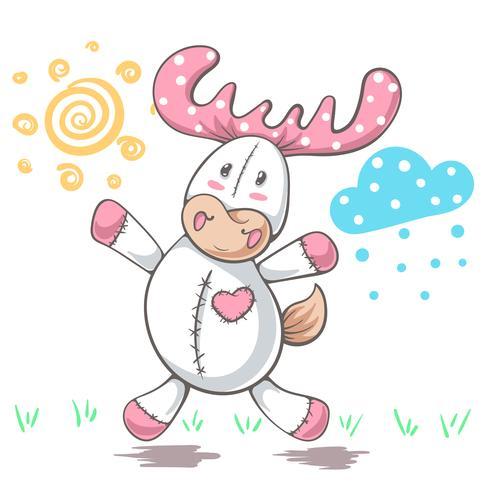 Amor de los ciervos del peluche - ejemplo divertido de la historieta.