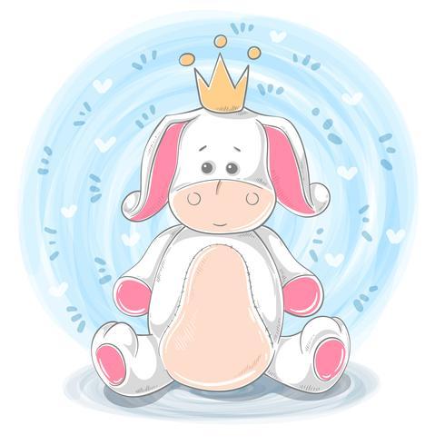Princess illustration - cartoon animal characters.