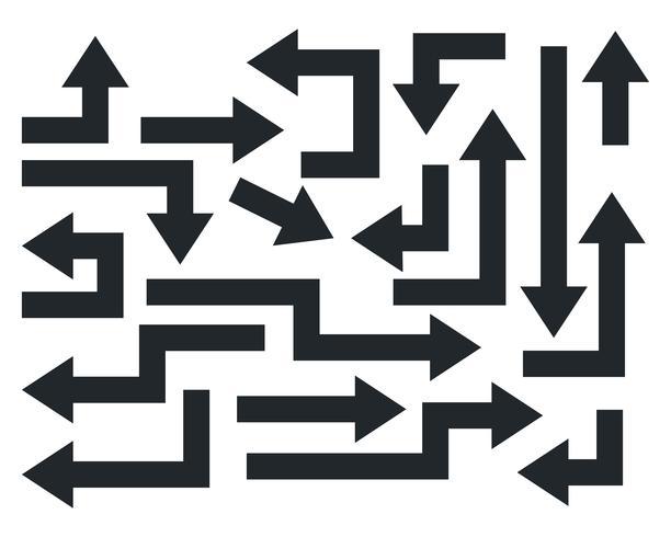 geometrische fette pfeile element sammlung
