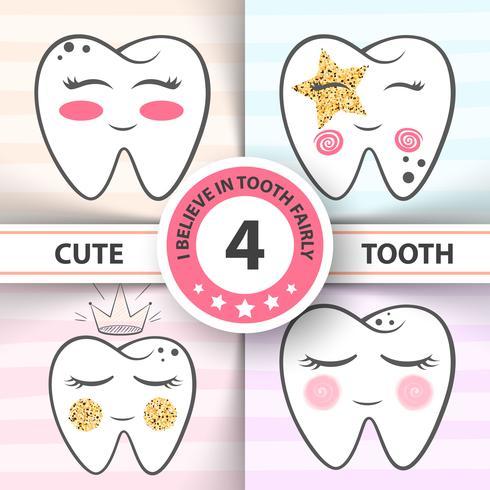 Leuke tand - medische, gezondheidsillustratie. vector