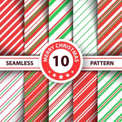 Gestreifte süße Linie Muster der frohen Weihnachten. vektor