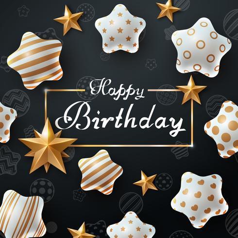Happy birthday. Beautiful dark template.