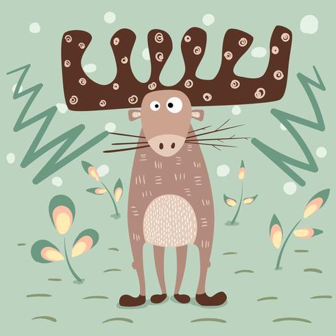 Amore dei cervi dell'orsacchiotto - illustrazione divertente del fumetto.