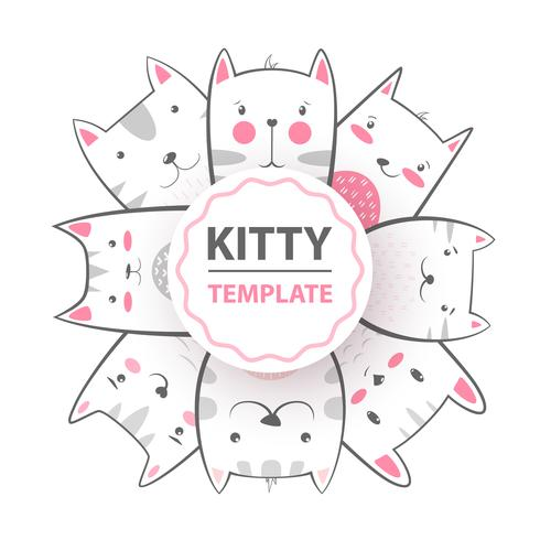Cute, cool, pretty, funny, crazy, beautiful cat, kitty vector