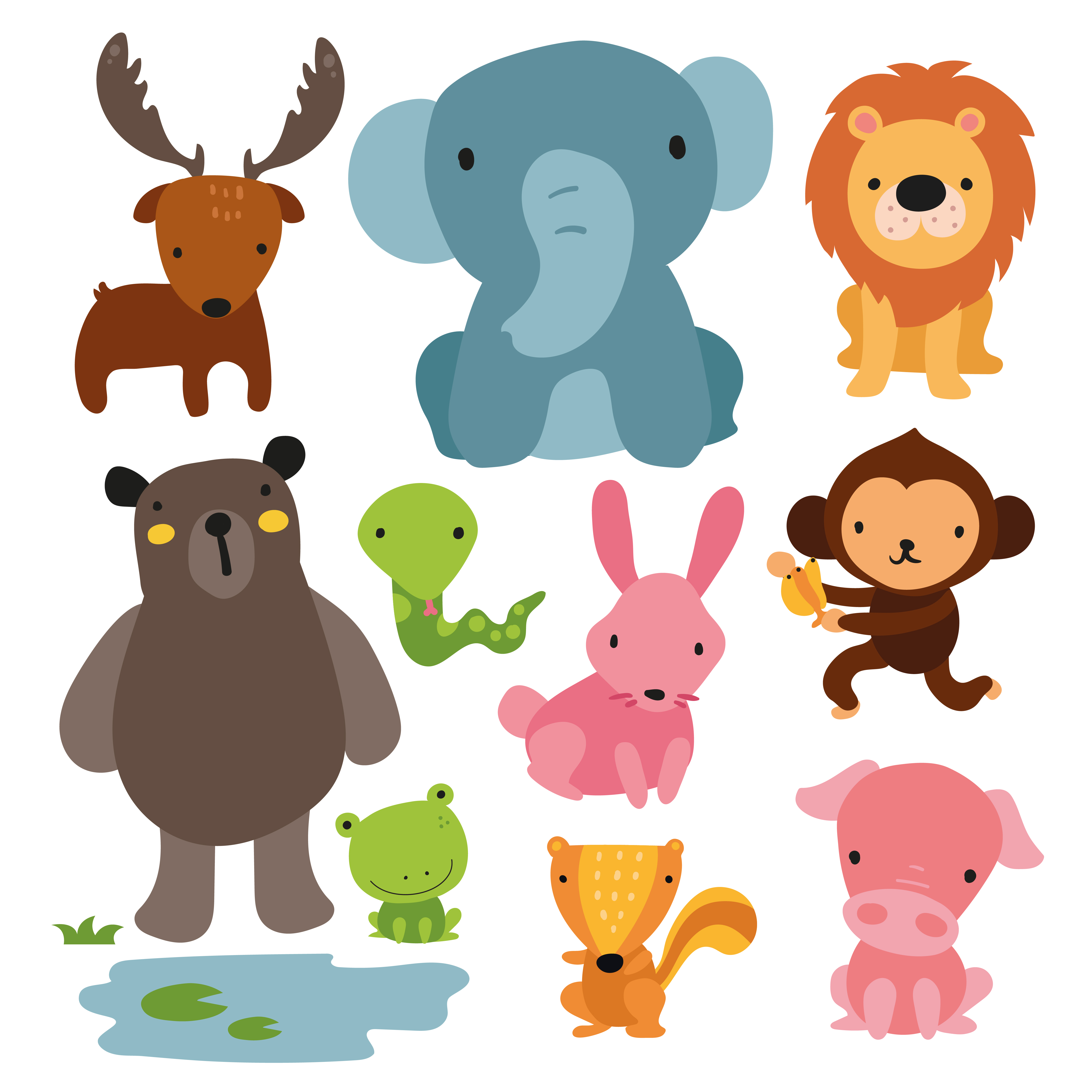 animals character design - Download Free Vectors, Clipart ...