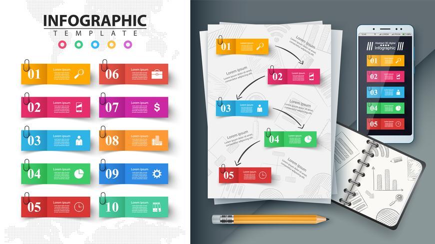 Infographie de l'entreprise. Maquette pour votre idée.