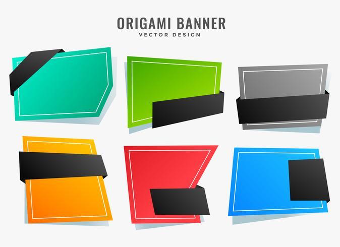 leere abstrakte Origami-Stil Banner gesetzt