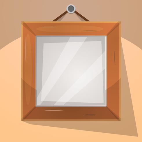 Illustration de cadre en bois de dessin animé