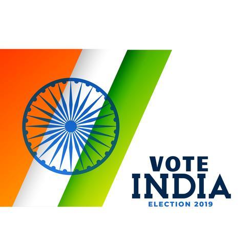 allgemeine indische Wahl 2019 Plakatentwurf