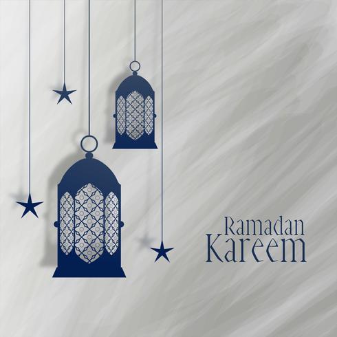 Ramadan Kareem lanterna e estrela decoração fundo