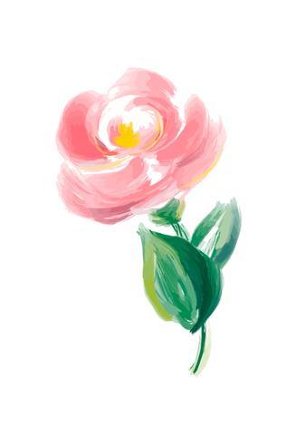 Vetor cor-de-rosa da flor bonito da aquarela da mola. Objeto isolado de arte para buquê de casamento