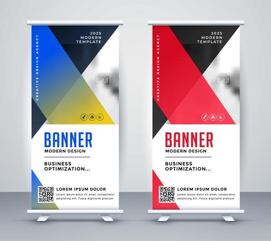 conception de bannière d'affaires moderne géométrique rollup