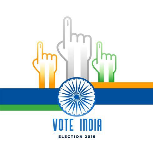 indisches Wahlkampfplakat wählen und abstimmen