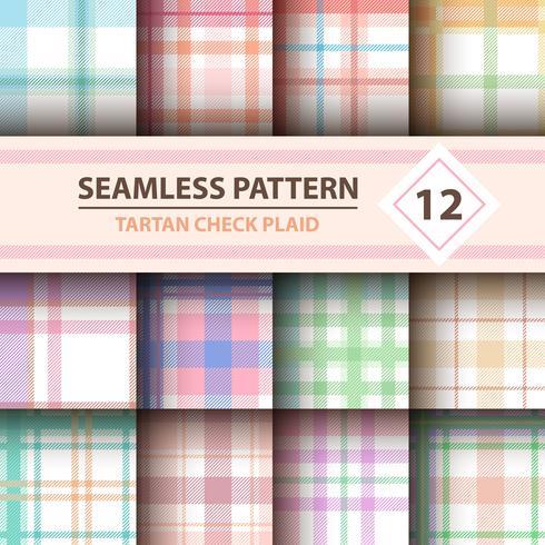 Classico scozzese, Merry Christmas check plaid seamless patterns.