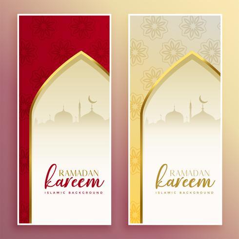 banderas islámicas para la temporada de Ramadán Kareem