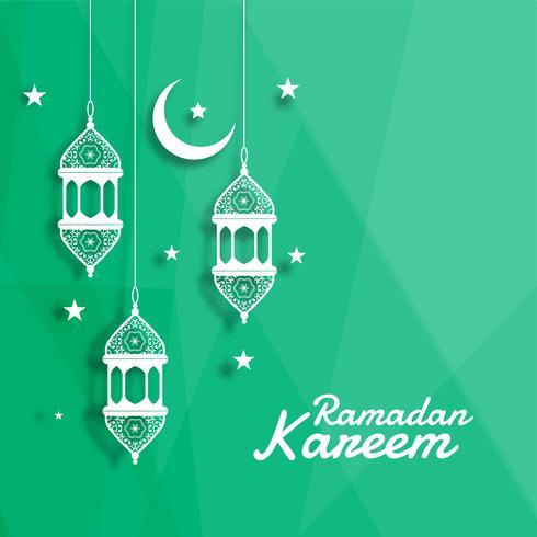 dekorativ islamisk lykta med mån och stjärna bakgrund