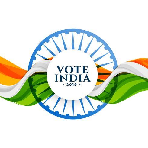 Abstimmung Indien Wahl Hintergrund mit Flagge