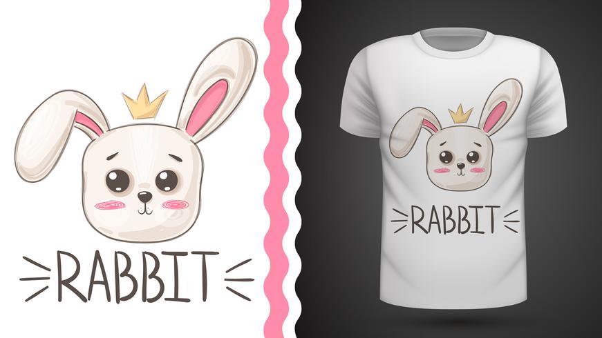 Simpatico coniglio - idea per t-shirt stampata.