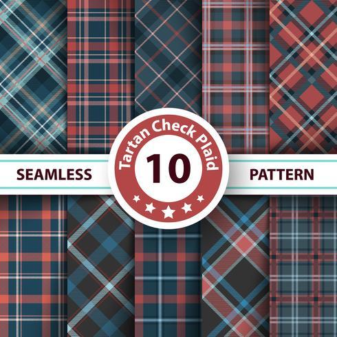Classic tartan, Merry Christmas check plaid seamless patterns.