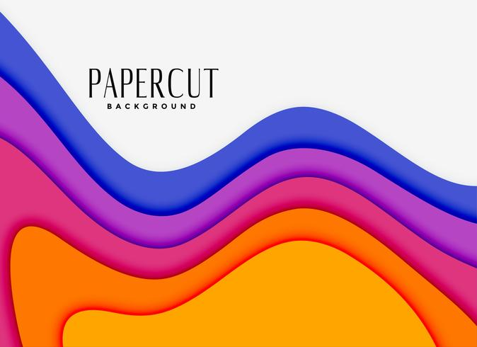 lebendige Papercut-Layer in verschiedenen Farben