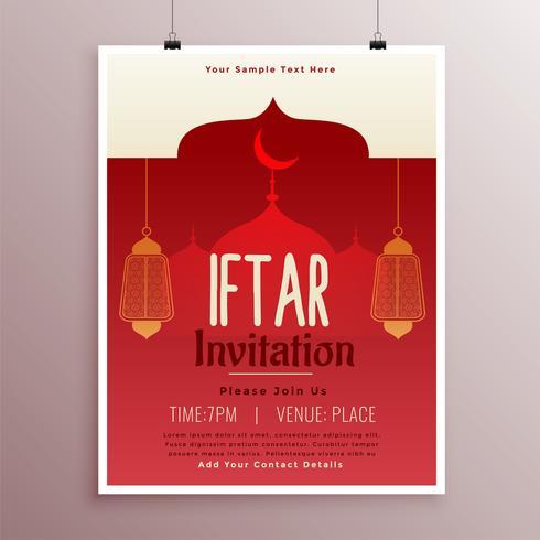 diseño de plantilla de fiesta iftar islámica