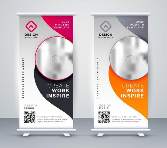 conception de bannière de cumul d'affaires vertical