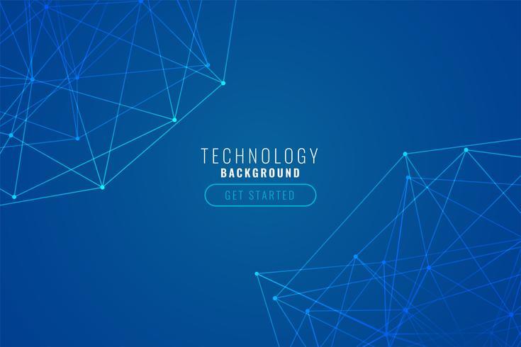 abstracte tech draad mesh blauwe achtergrond
