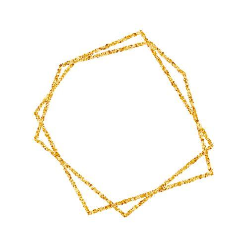 Geometrischer Goldrahmen für Hochzeits- oder Geburtstagseinladungshintergrund.