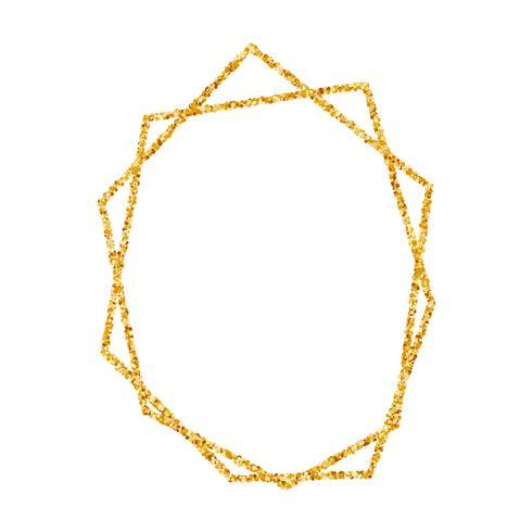 Marco geométrico del oro para el fondo de la invitación de la boda o del cumpleaños.