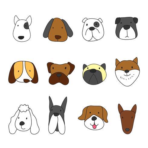diseño de personajes cabeza de animales vector