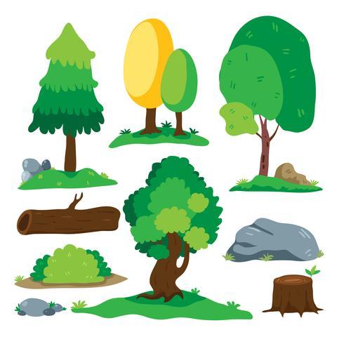 diseño de la colección de vectores de árboles