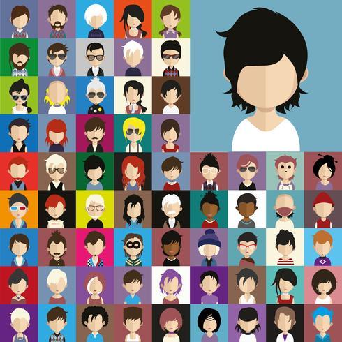 Colección Avatar de varios personajes masculinos y femeninos.
