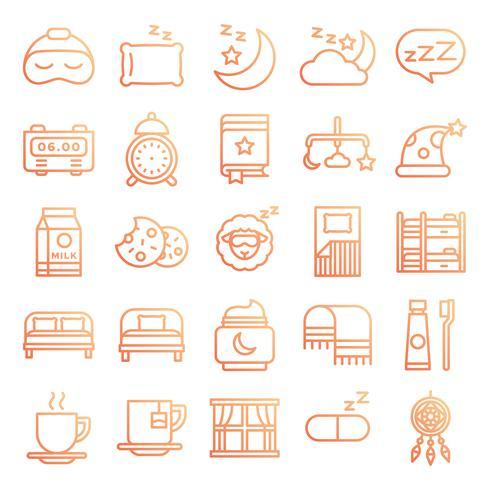 Slapende pictogrammen pack