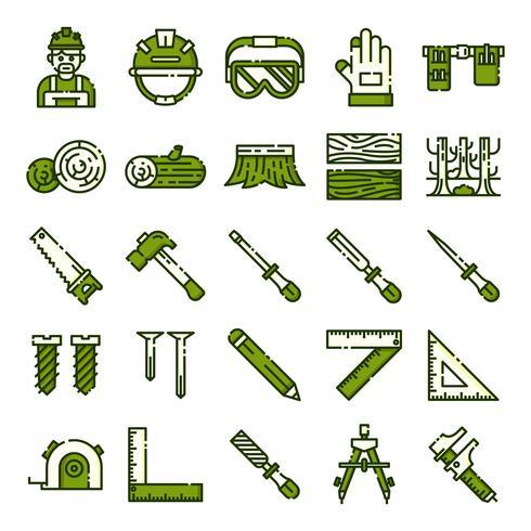 Pack de iconos de carpintero