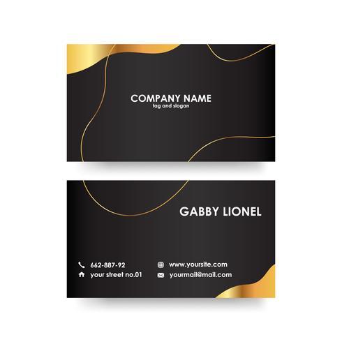 Kreative und elegante doppelseitige Visitenkarteschablone