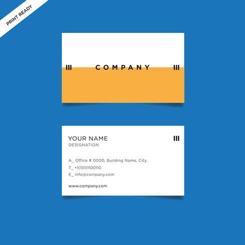 Professionell visitkort koncept design, abstrakt vektor illustration