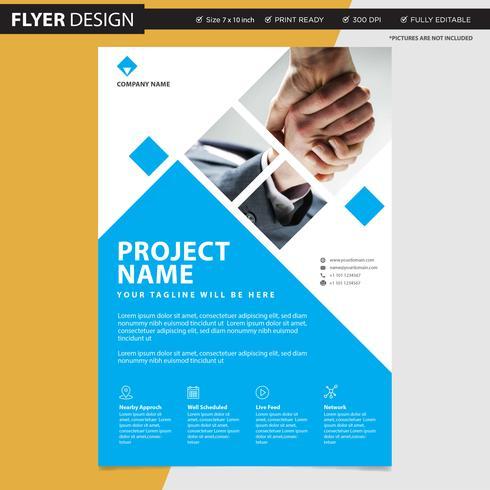 Diseño de concepto profesional del aviador o del folleto, ejemplo abstracto del vector