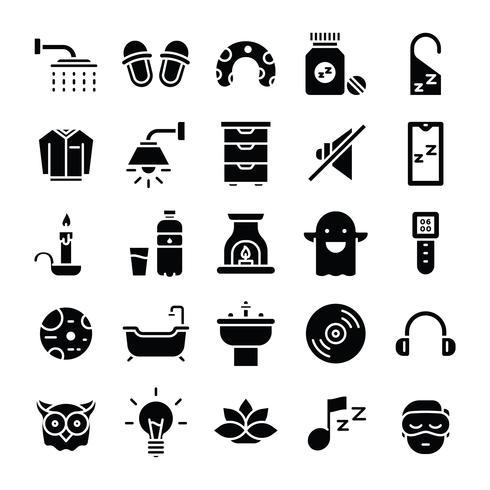 Pack de iconos para dormir