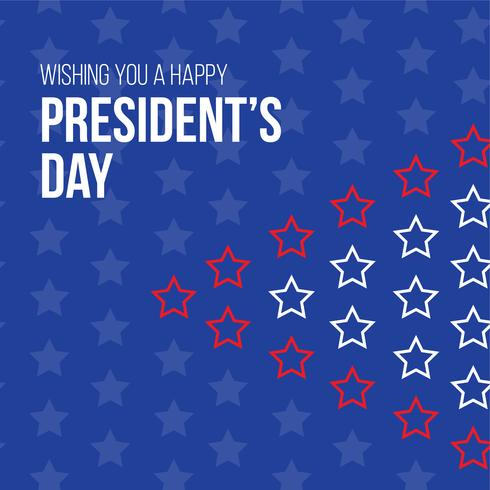 Happy President's day design background with copy space vector