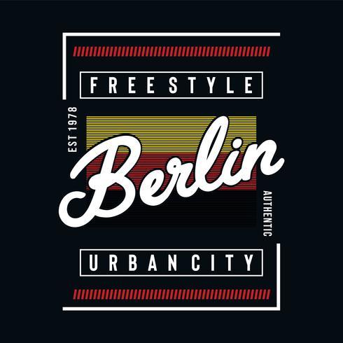 berlin urban city typografie-design Vektor