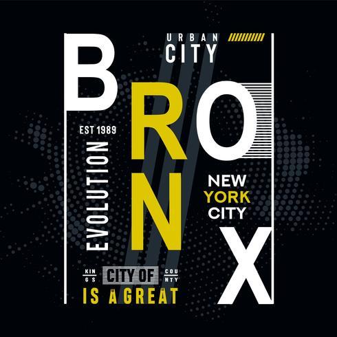 Bronx-typografi-konstruktion